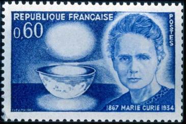 Почтовая марка, выпущенная в честь Марии Склодовской-Кюри