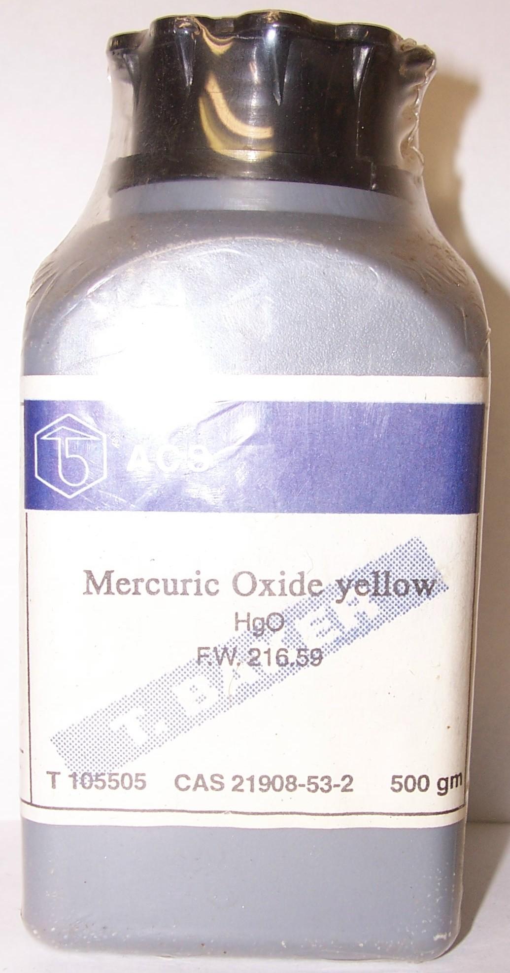 Оксид ртути HgO [желтая модификация]