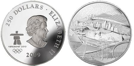 Канадская серебряная монета весом 1 килограмм