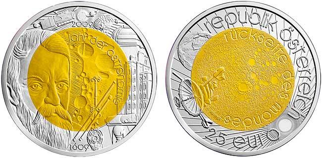 Юбилейная монета из серебра и ниобия