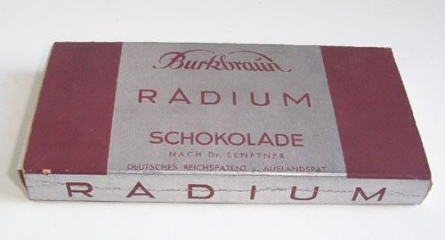 Шоколад с радием (выпускался в Германии)
