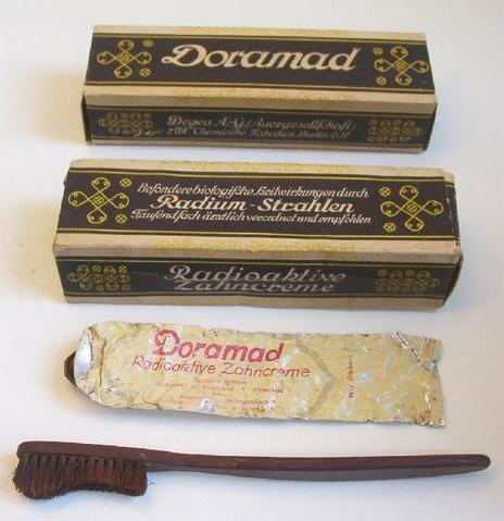 Немецкая зубная паста, содержащая радий