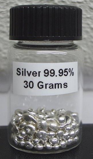 Серебро в гранулах