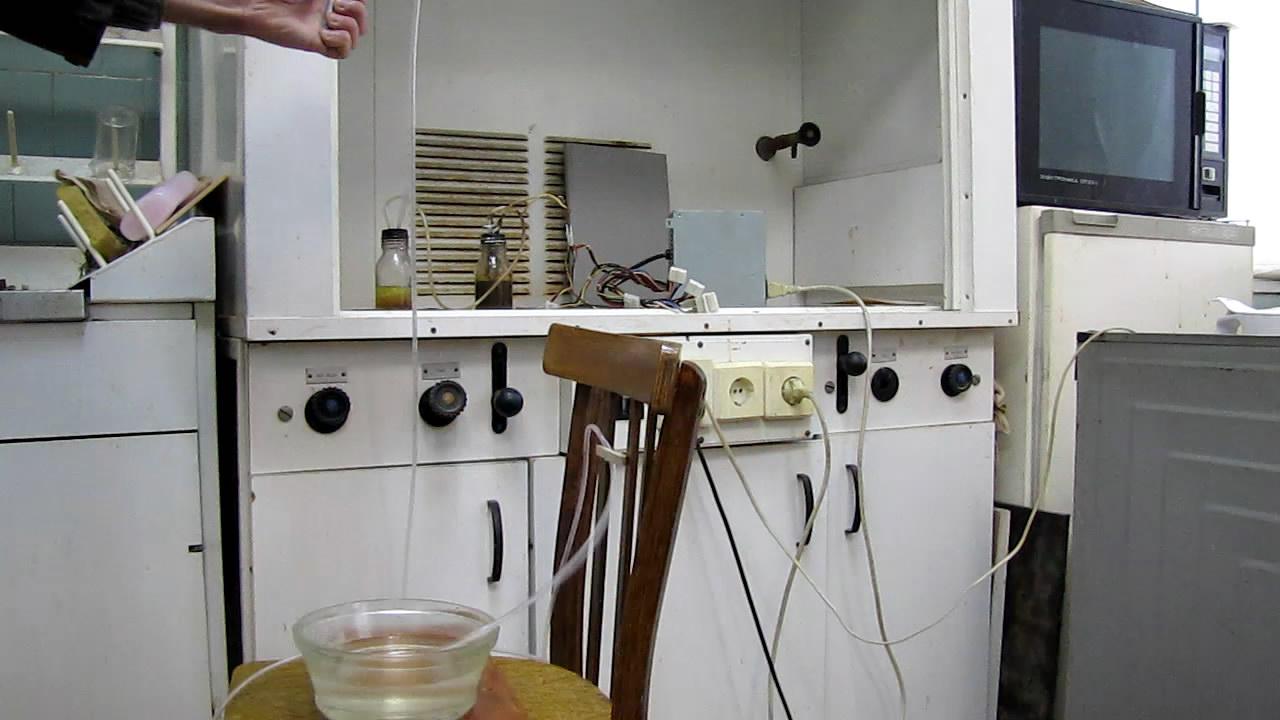 Взрыв гремучего газа в ПВХ трубке