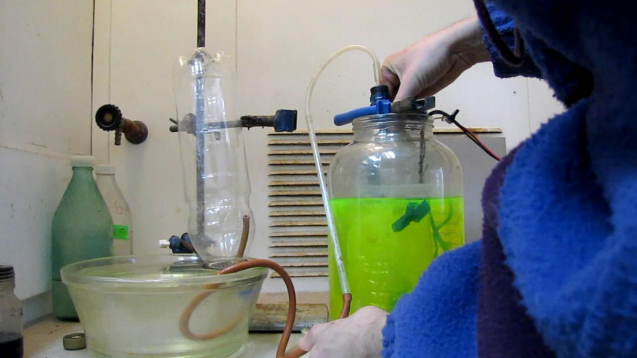 Наполнение бутылки гремучим газом