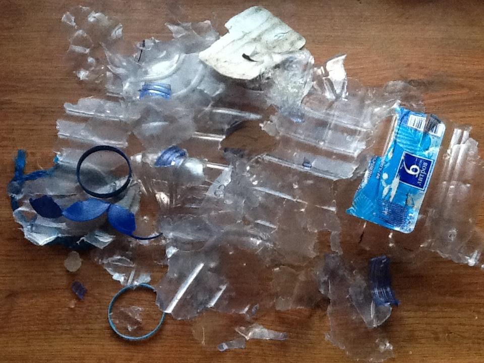 Взрыв бутылки с гремучим газом (6 л)