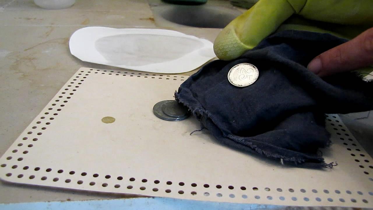 Как из медной монеты сделать серебряную