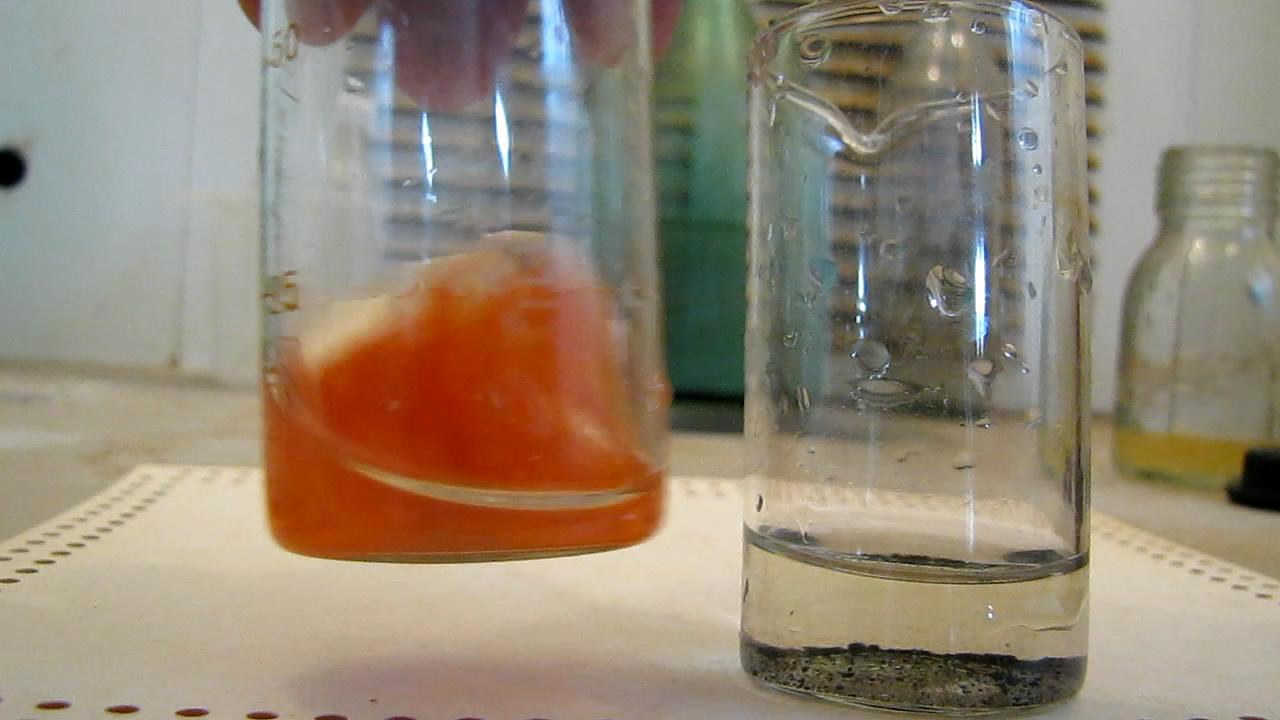 Осаждение иодида и сульфида ртути (II)