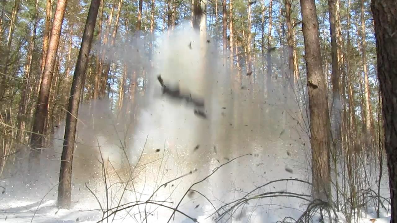 Взрыв аммотропина (5000 г)