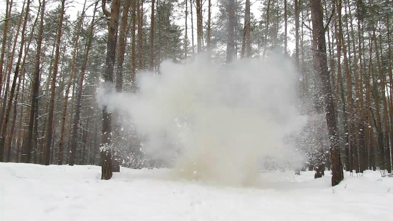 Взрыв аммотропина (400 г)