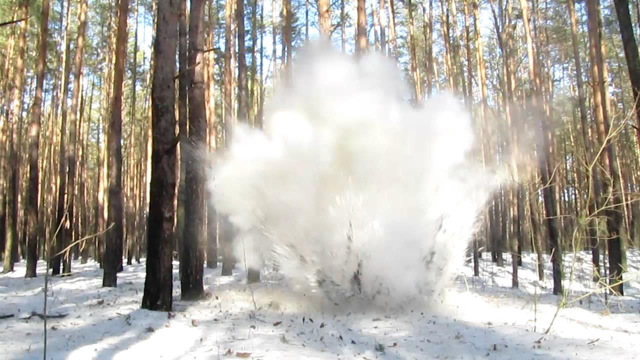 Взрыв аммотропина (600 г)
