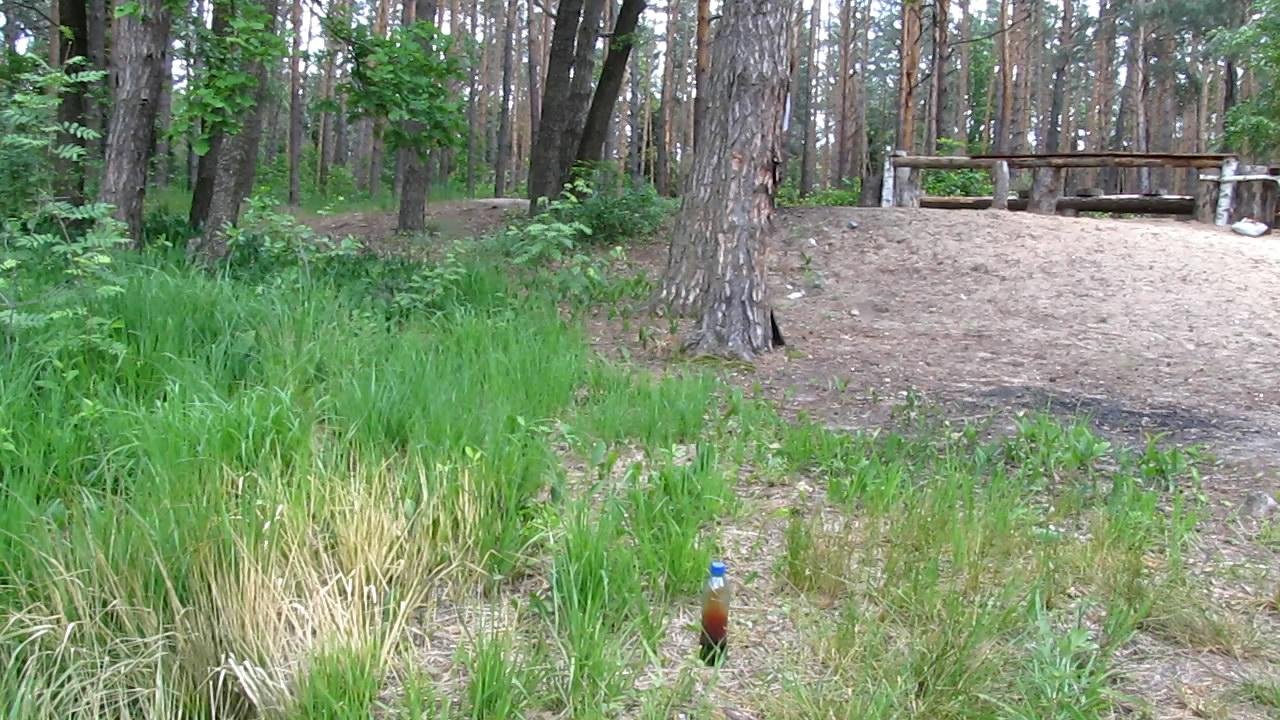 Азотная кислота, медь и ПЭТФ бутылка (взрыв)