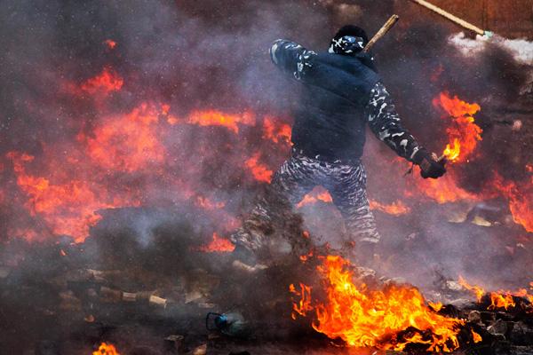 Уличные бои в Киеве - Грушевского, 22 января
