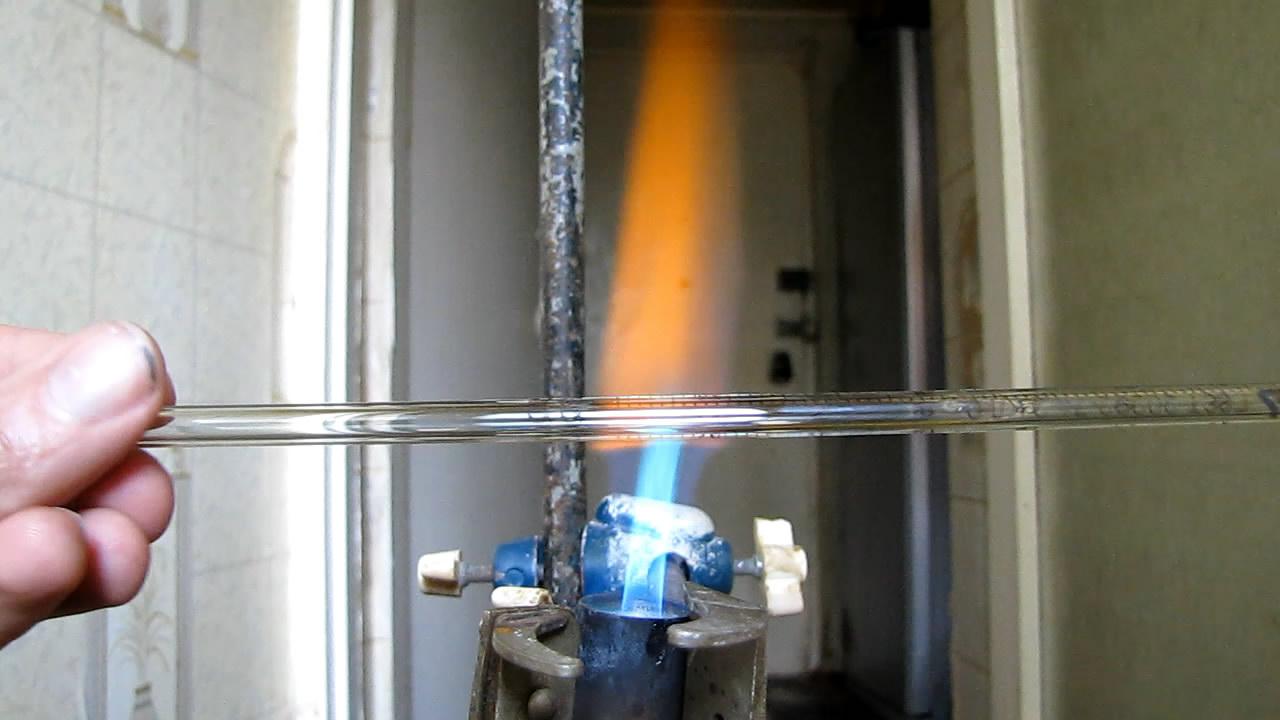 Вытягивание капилляра в пламени горелки