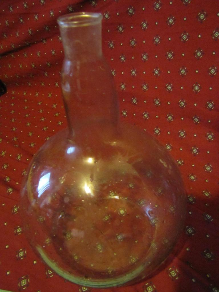 Горение паров спирта (круглая колба на 3 л)