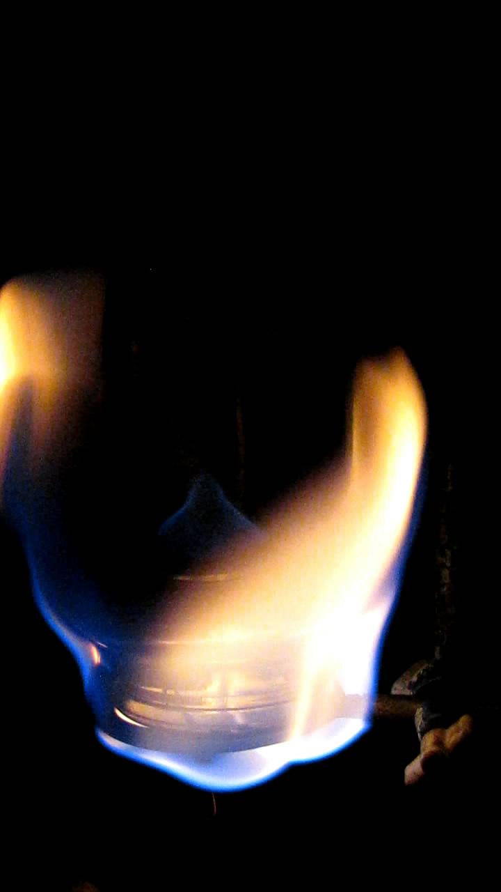 Горение воздуха в атмосфере метана