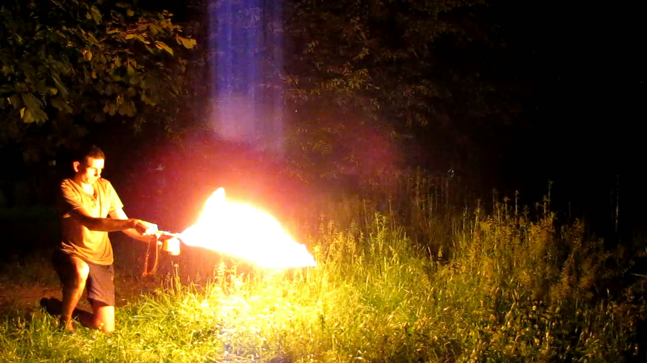 Модель огнемета