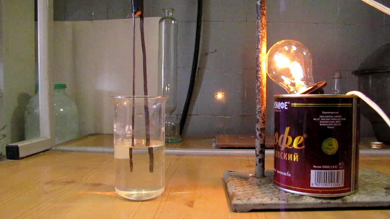 Электропроводность воды из-под крана