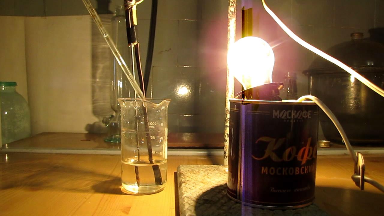 Электропроводность растворов сильных электролитов  (хлорид натрия, сульфат меди)