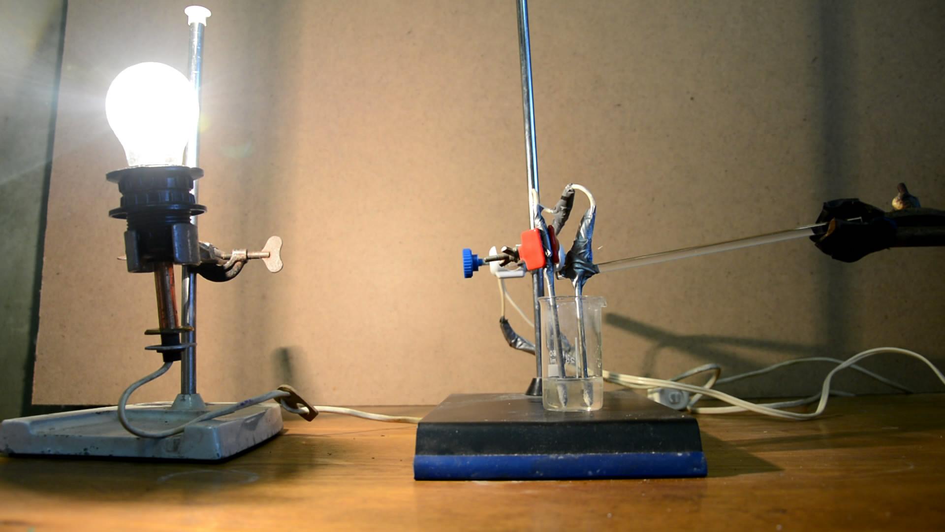 Электролиз с переменным током (сульфат алюминия)