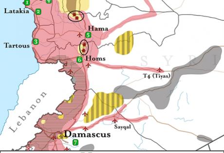 Cирия - карта боевых действий