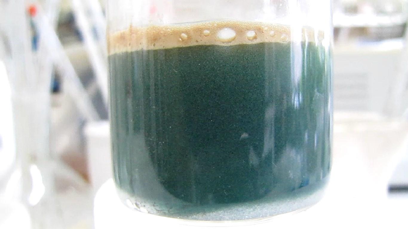 Восстановление перманганата калия с помощью алюминия и гидроксида лития. Reduction of potassium permanganate by aluminium and lithium hydroxide
