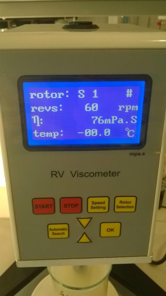 Роторный вискозиметр и моющие средства. Rotational viscometer and detergents