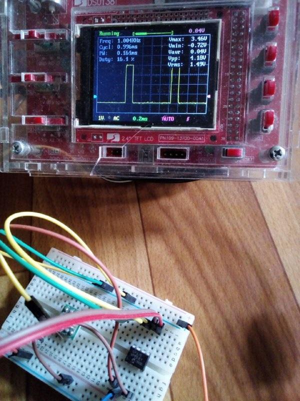 Регулятор напряжения на микроконтроллере PIC12F675 или ШИМ-контроллер с рабочей частотой 1 кГц и контролем одного параметра. PIC12F675 microcontroller-based voltage regulator