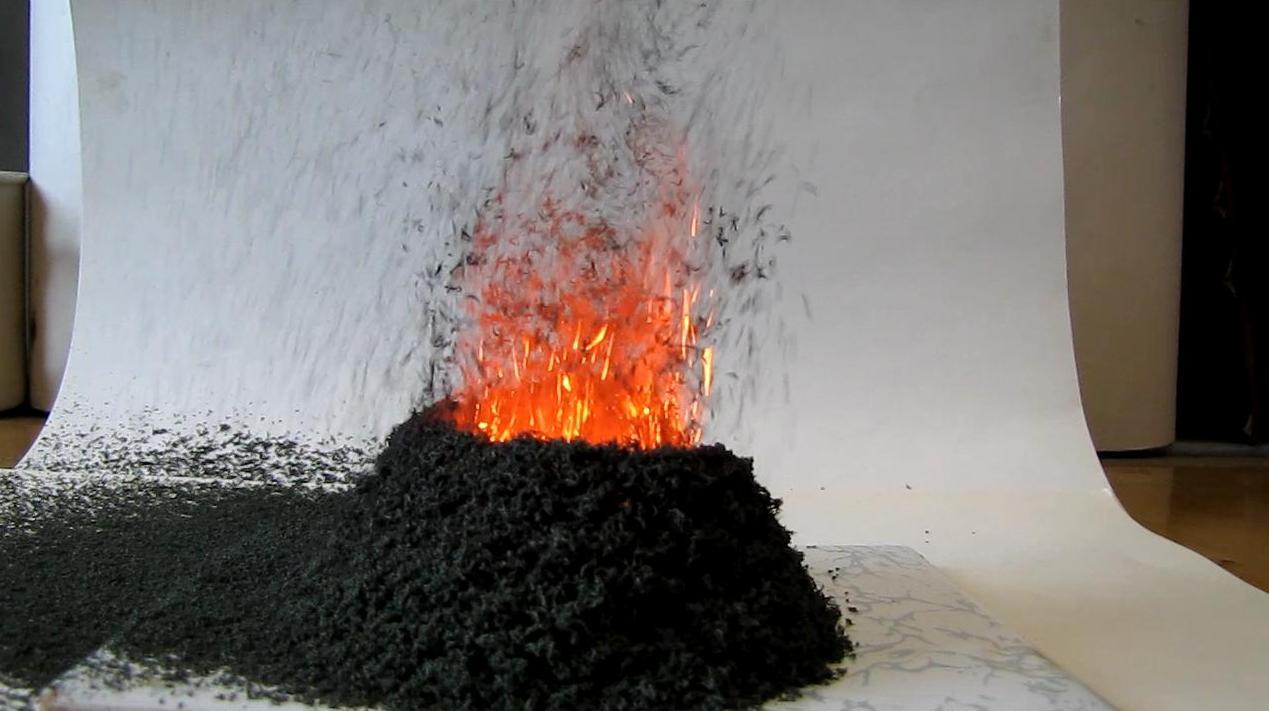 Chemical Volcano (Decomposition of Ammonium Dichromate)