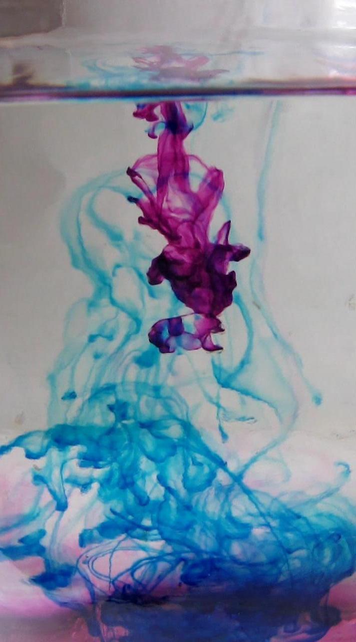 Вихревые кольца с перманганатом калия и метиленовым синим