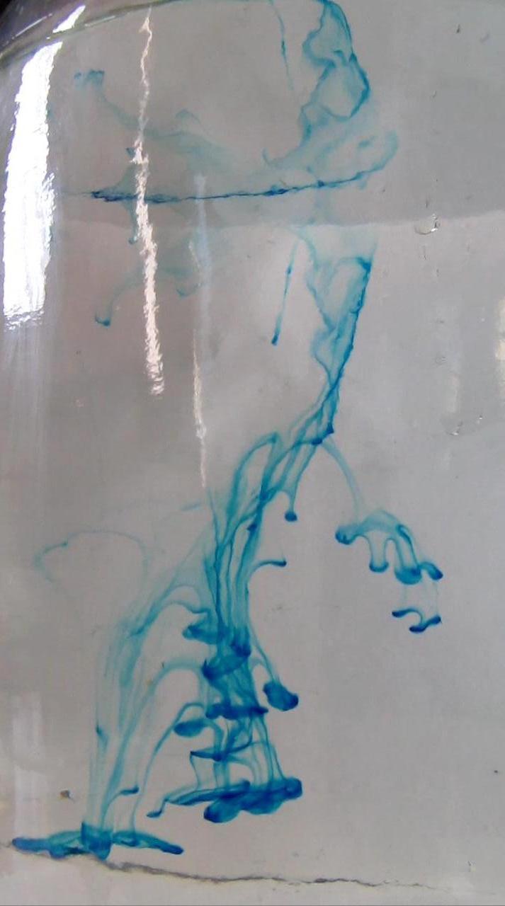 Вихревые кольца с  метиленовым синим