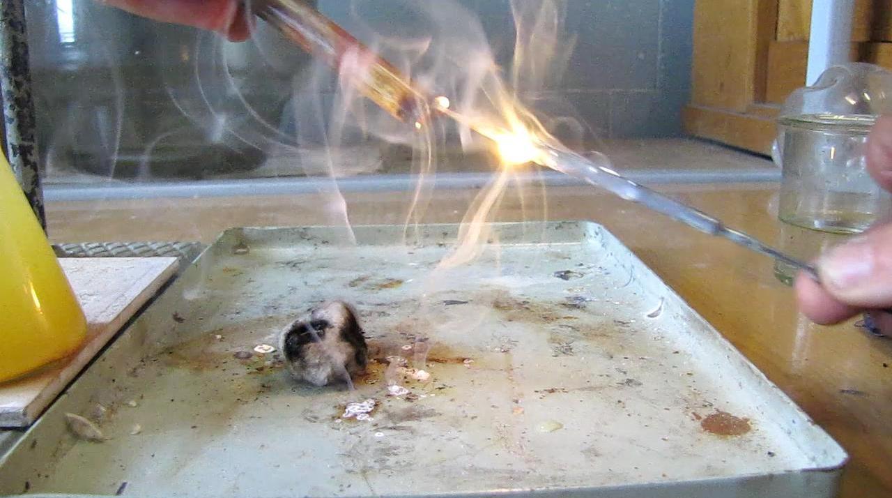 Самовоспламенение белого фосфора