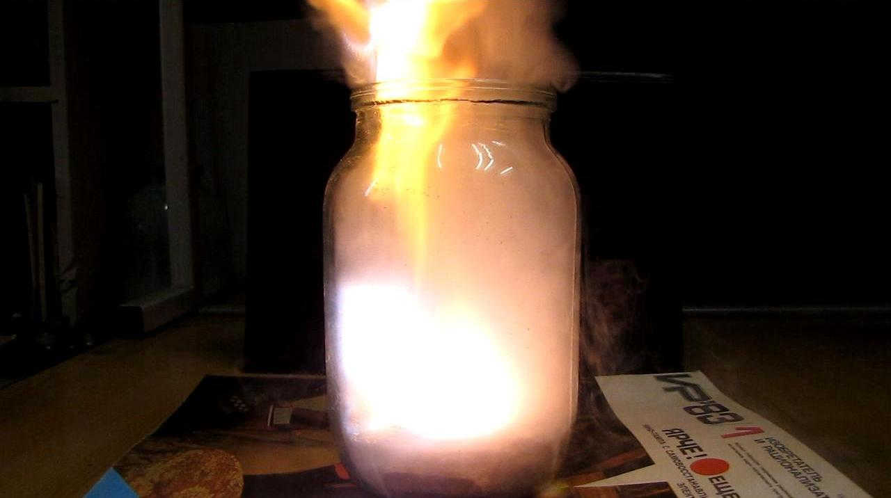 Вулкан Шееле в атмосфере пропан-бутановой смеси - банка на 1 л