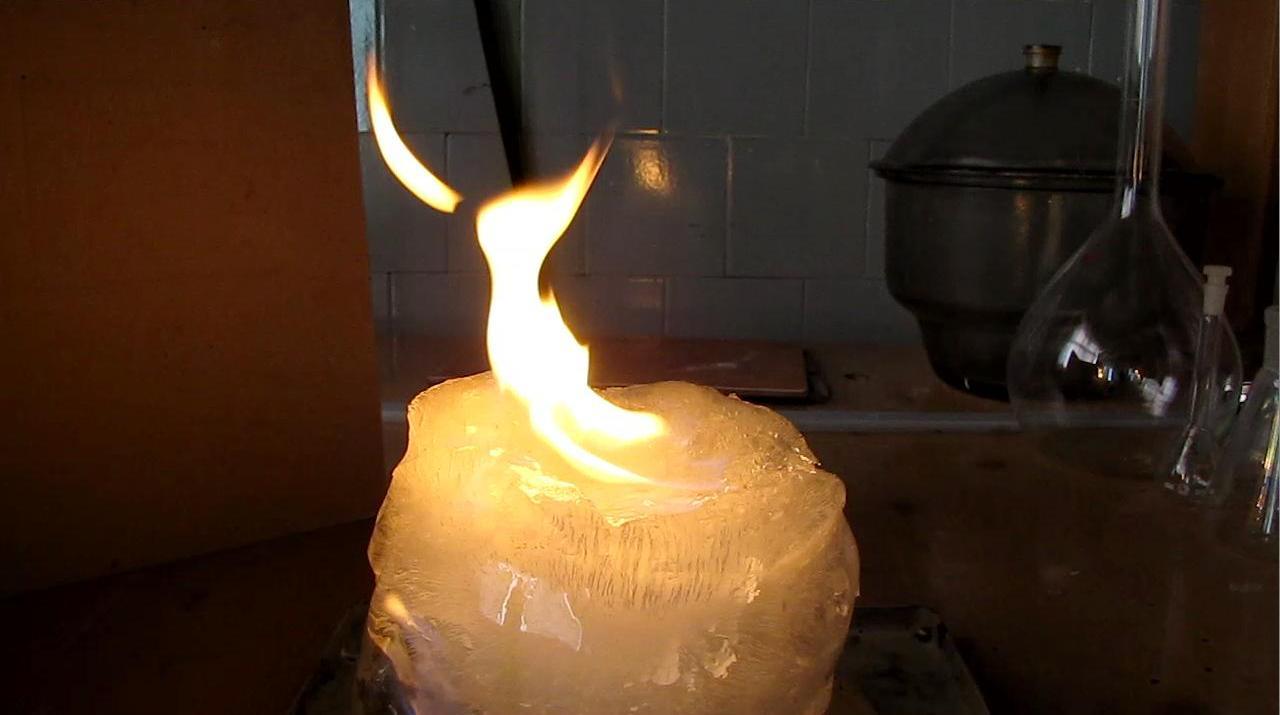 Лед и пламя (горящий лед)