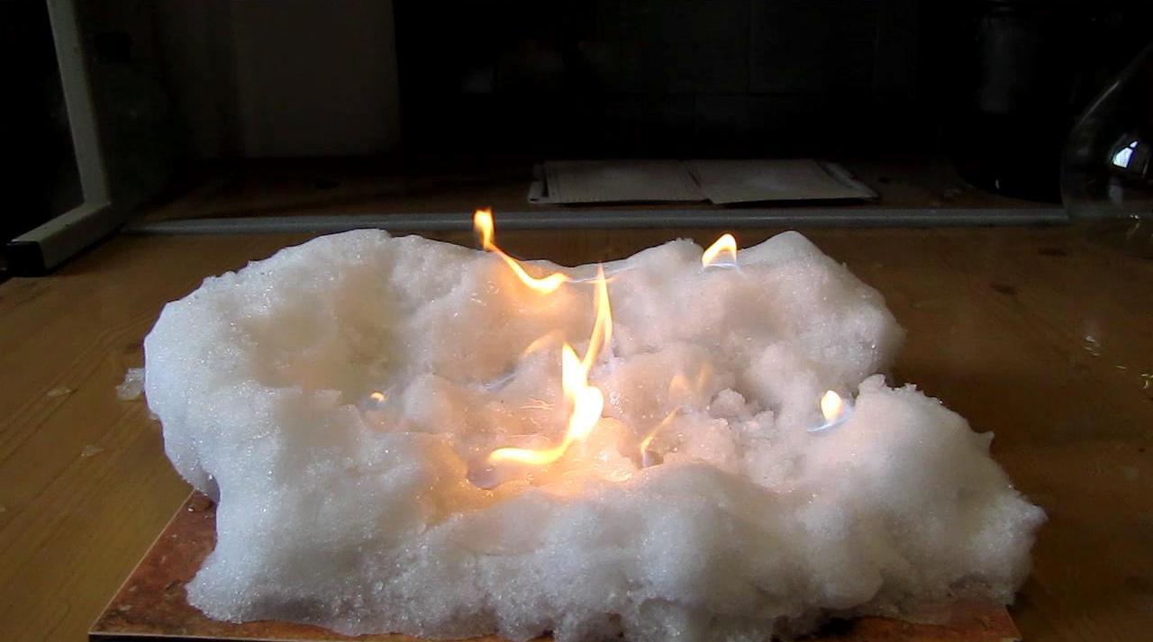 Лед и пламя (горящий снег)