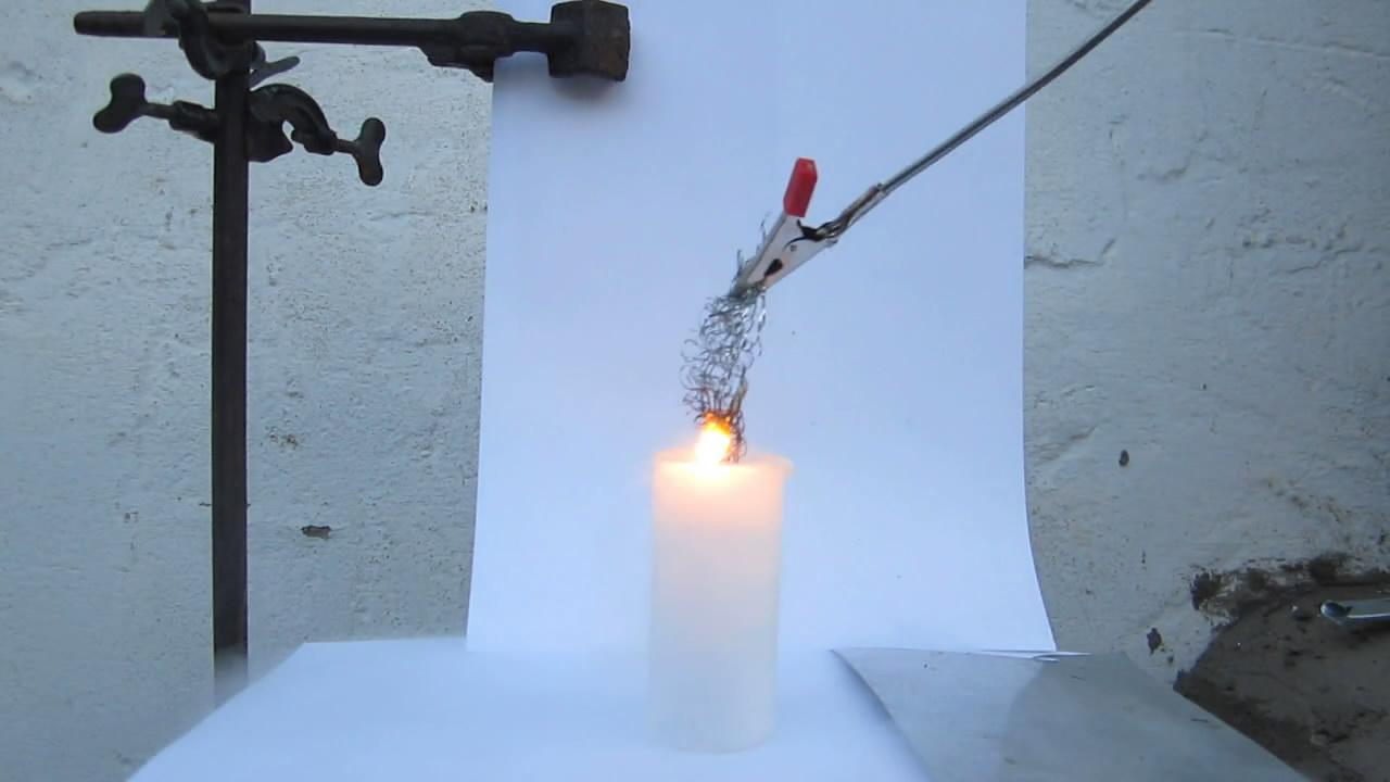 Горение железа в жидком кислороде
