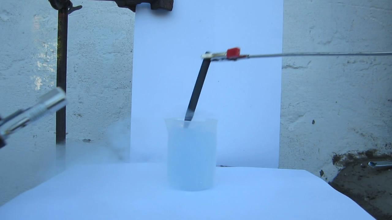 Горение графита в жидком кислороде