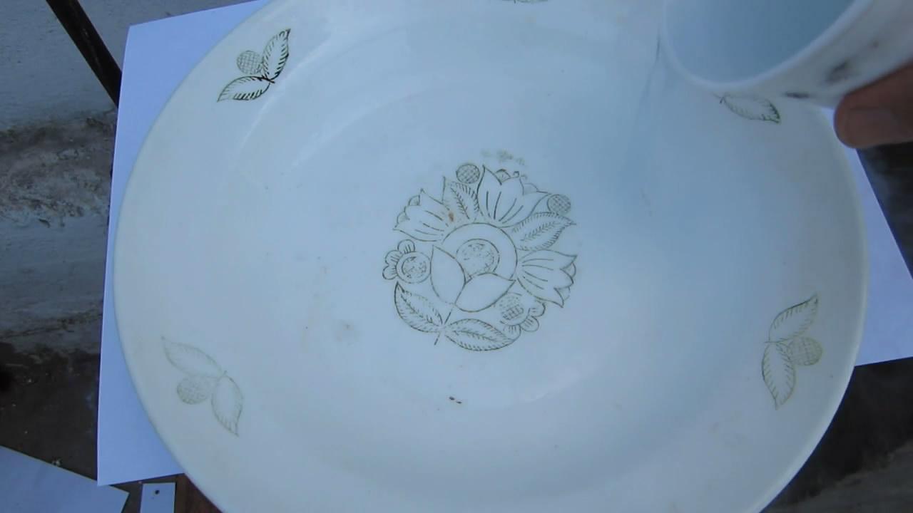 Жидкий кислород на тарелке