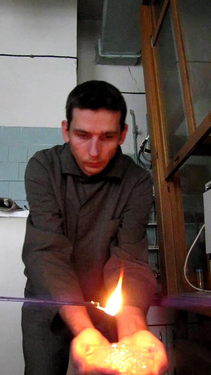 Огонь на ладонях (пена с бутаном)
