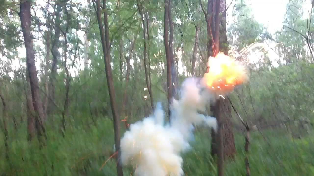 Взрыв смеси свинцового сурика и алюминиевой пудры