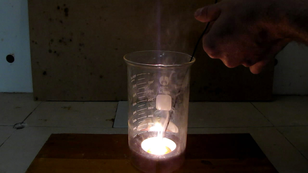 Вулкан в стакане (разложение бихромата аммония)