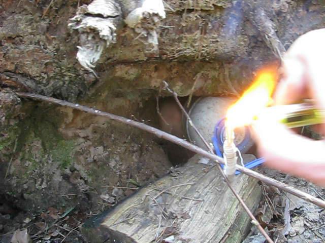 Взрыв аммотропина (2600 г)