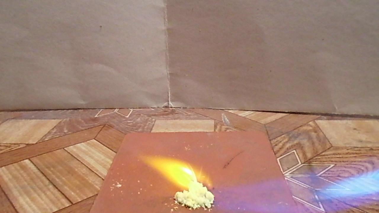 Пикриновая кислота: действие пламени