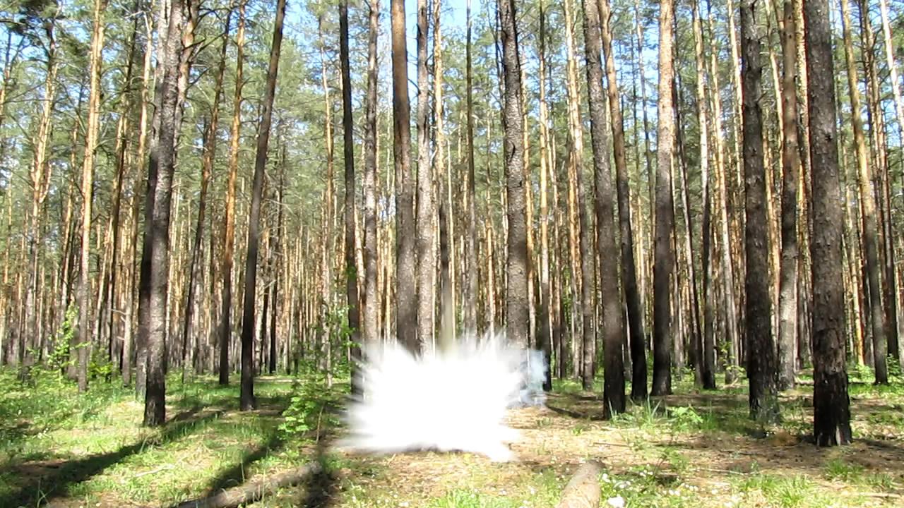 Взрыв пикриновой кислоты под водой (10 г, бутылка на 6 л)
