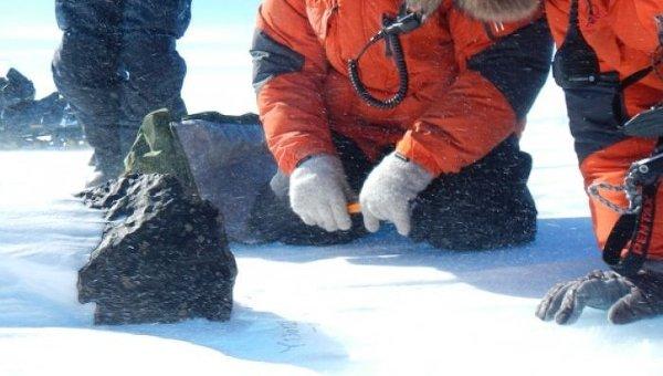 Метеорит, найденный на леднике в Антарктиде
