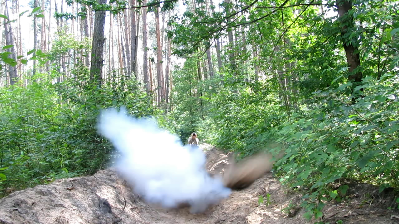 Взрыв баллончика с бутаном (300 мл)