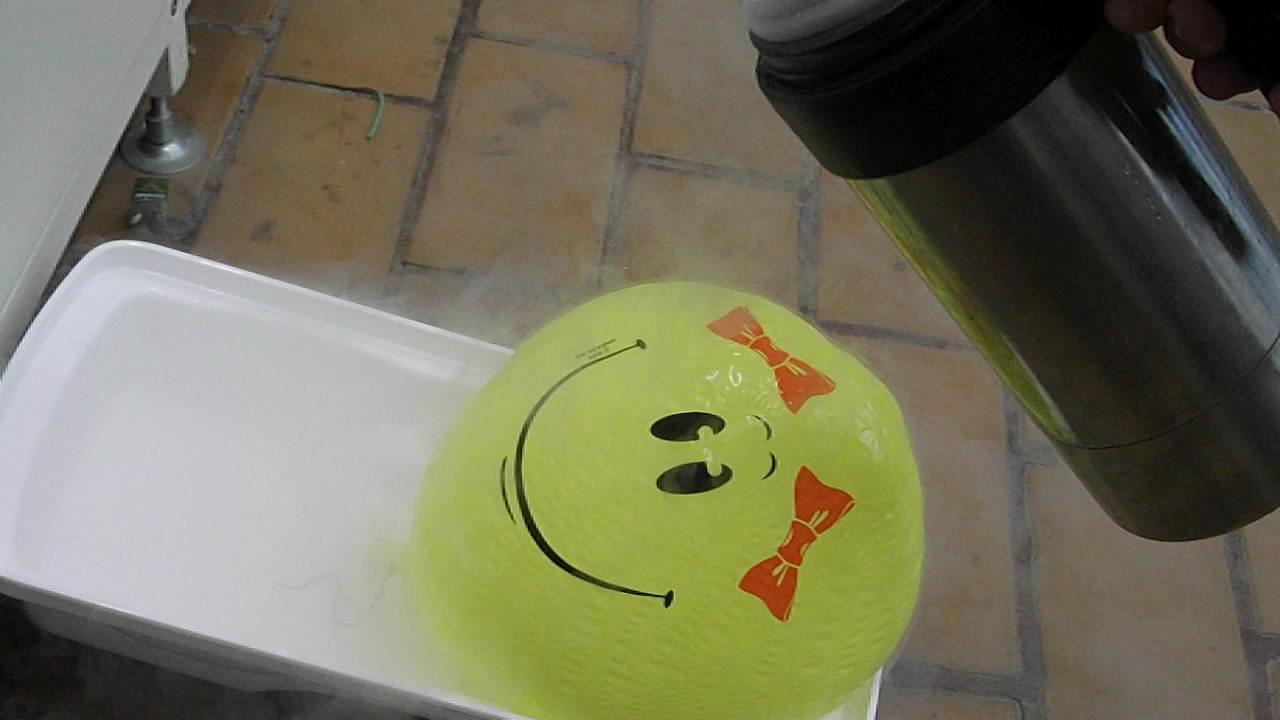 Воздушный шарик и жидкий азот