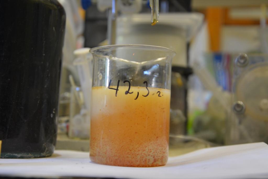 Осаждение тринитротолуола из ацетона
