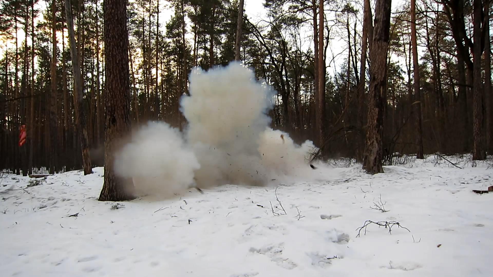 Аммотропин 500 г - взрыв