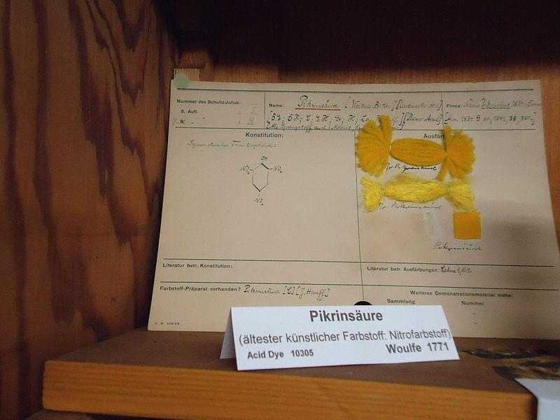 Пикриновой кислотой раньше красили ткани